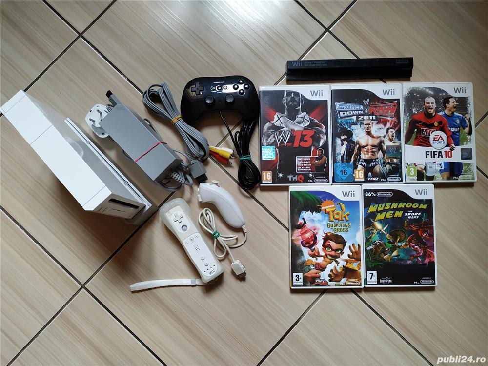 Consola Nintendo Wii completa, cu toate accesoriile & jocuri incluse!