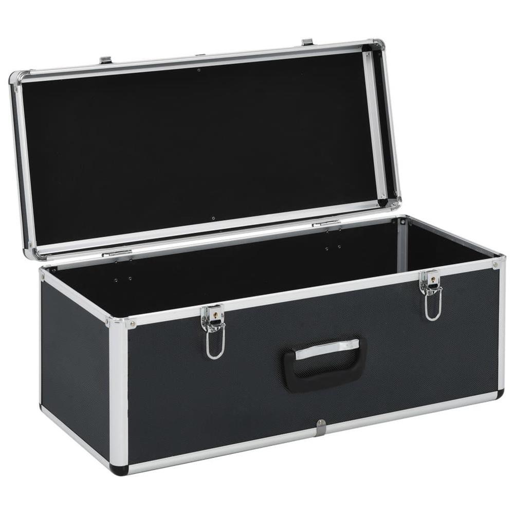vidaXL Cutii de depozitare, 2 buc., negru, aluminiu vidaXL(91851)