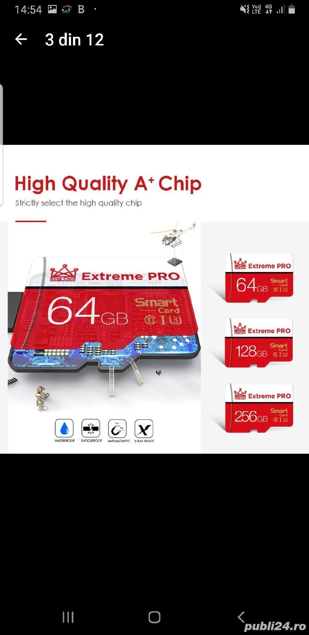 Vand card micro SD,nou,256 Gb, marca Extreme Pro
