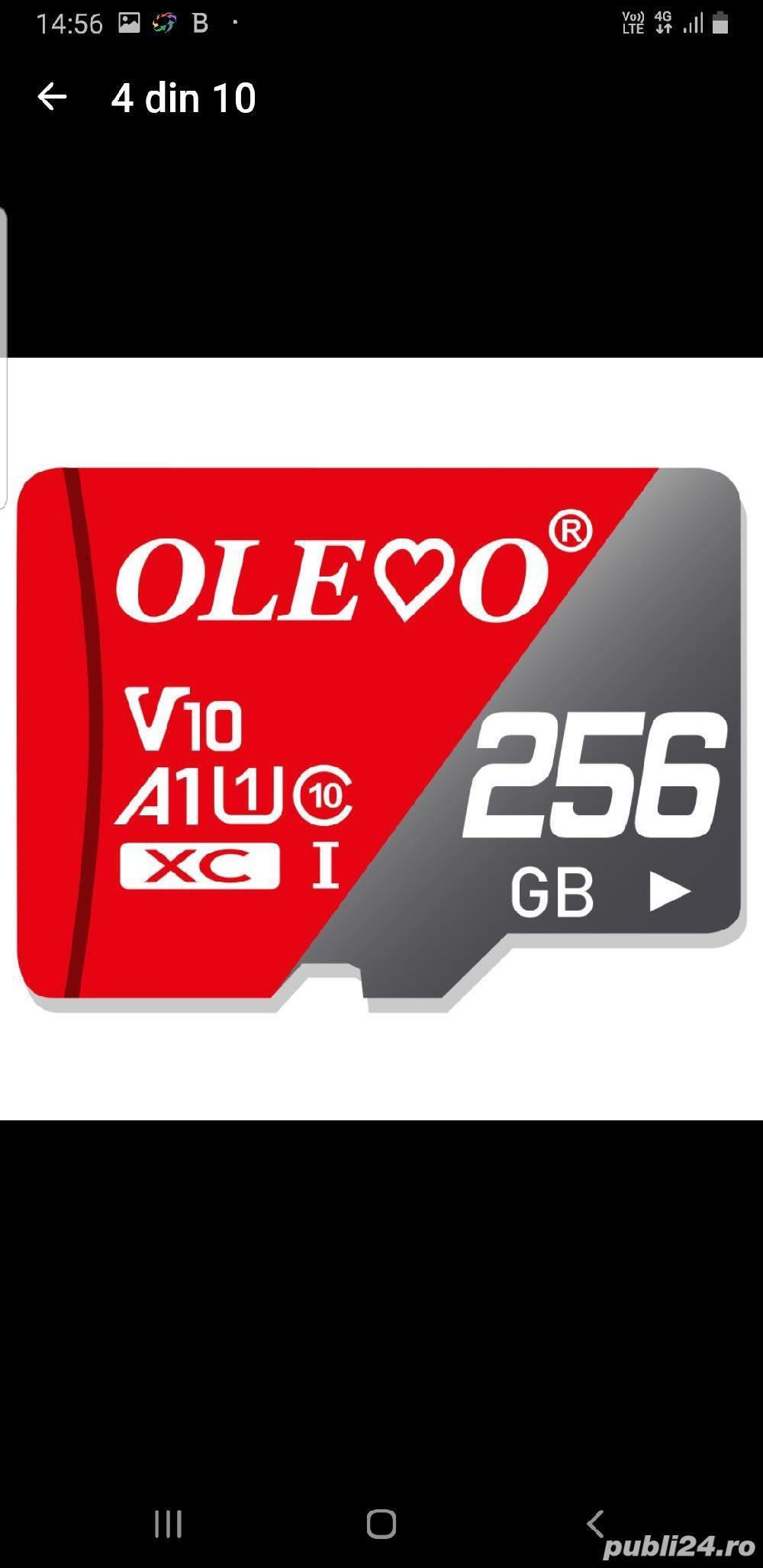 Card micro SD nou, 256 Gb, marca Olevo