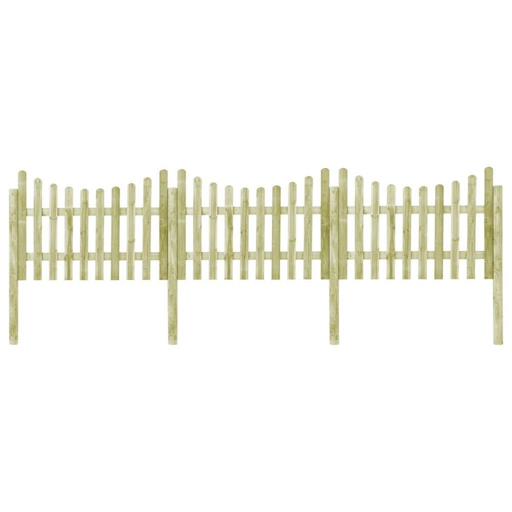 vidaXL Gard de grădină cu 4 stâlpi, 510x120 cm, lemn de pin tratat vidaXL(45171)