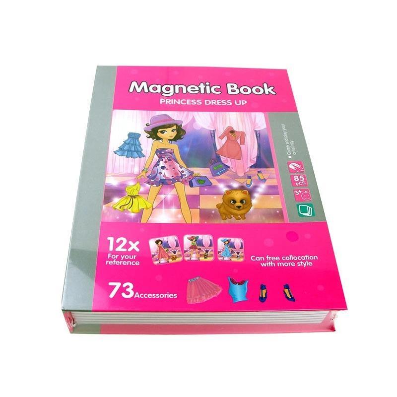 Jucarie Carte magnetica puzzle   Imbraca printesa   73 piese STEM