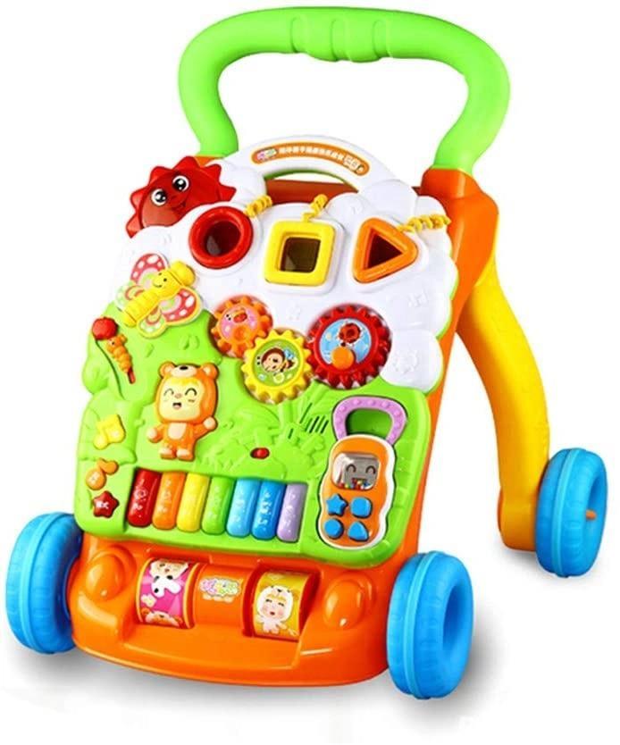 Antemergator/Premergator bebe copii, 9luni+, multifunctional / interactiv Dibao Bear Piano Walker