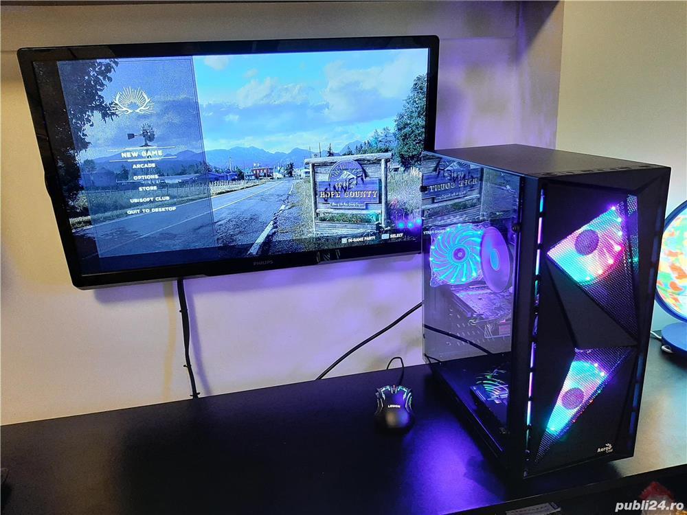 Unitate Pc Gaming Intel Core I3 8100+16Gb DDR4+SSD 240Gb+AMD RX570 4Gb