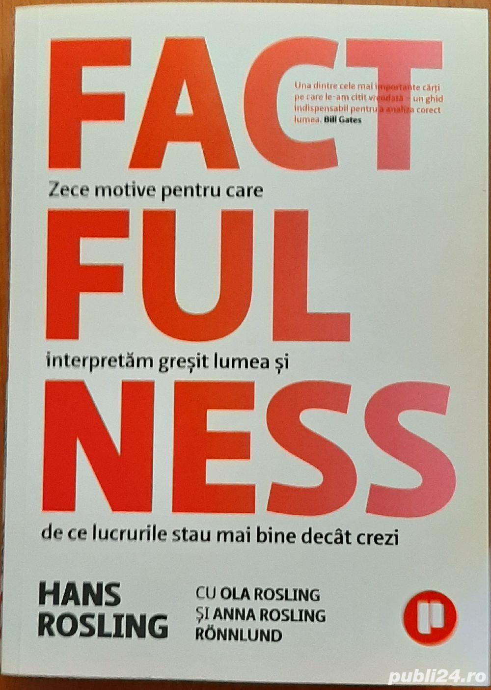 CARTE: FACTFULNESS de Hans Rosling