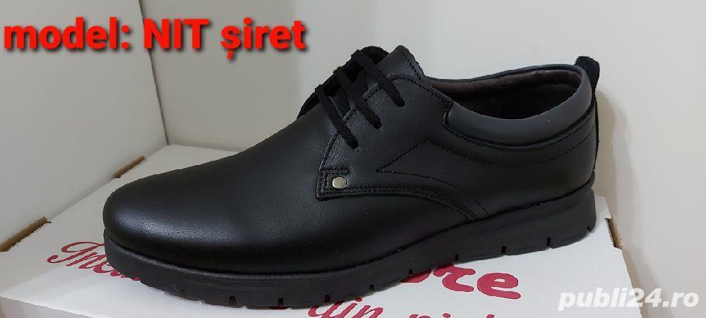 pantofi barbati model nit șiret și elastic piele naturala 100%