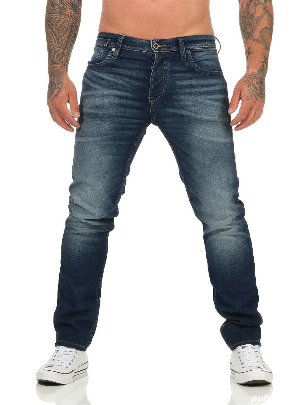 Jeans Barbati Jack&Jones JJITIM JJLEON GE 227 I.K. NOOS Blue Denim NOU