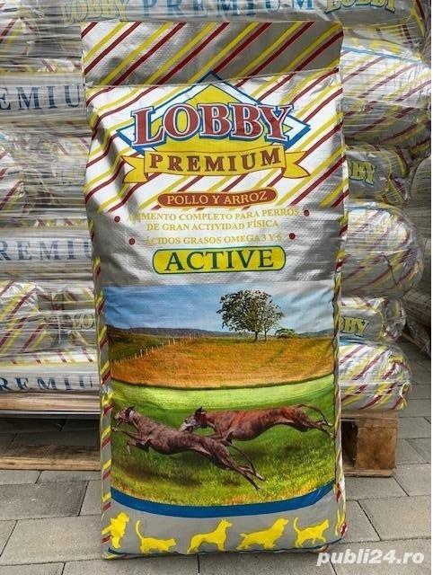 Hrană câini adulți, Lobby Premium Active, 32% proteina