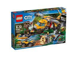 Lego City 60162 - 1250 piese - Elicopter de Jungla - peste 8 ani