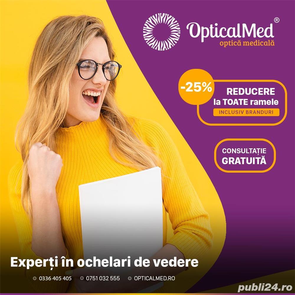PROMOTIE Optica medicala Galați: 25% discount la toate ramele de ochelari (inclusiv la branduri)