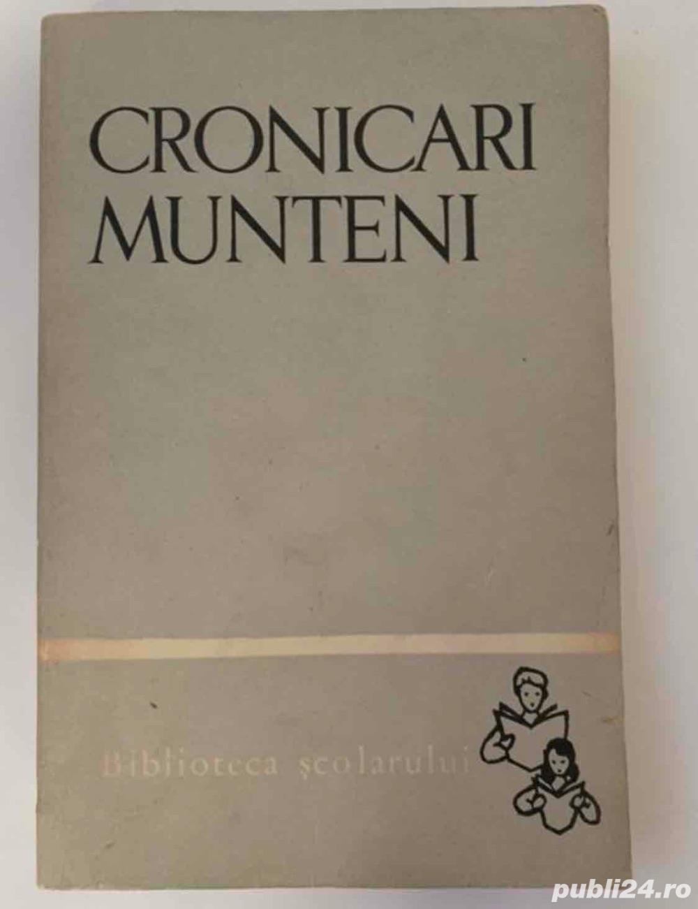 cartea  Cronicari munteni , ed. Tineretului, 1965