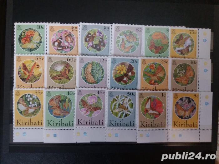 Timbre fluturi Kiribati serie completa nestampilata