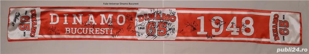 Fular Aniversar Dinamo Bucuresti 2013 Semnat