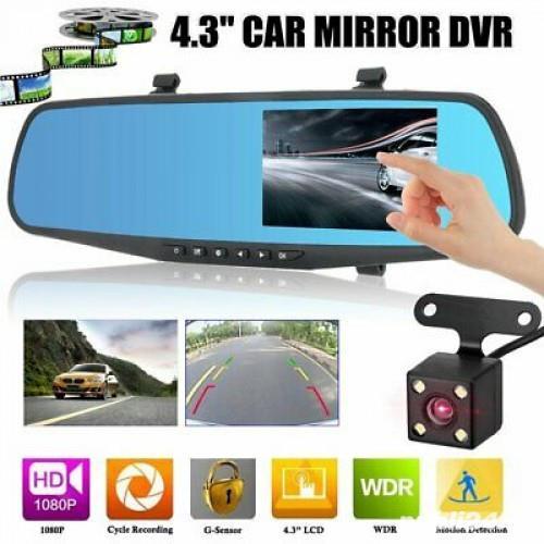 """Oglinda retrovizoare Camera Video Auto Dubla Ecran 4.3"""" Touch Screen"""