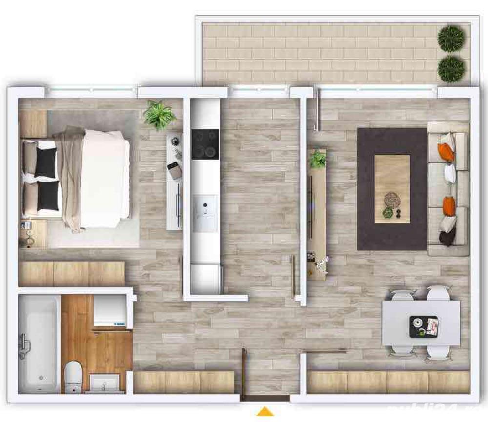 Apartament nou, ocupabil imediat, 2 camere, Prima Nufarul, 52190 Eur.