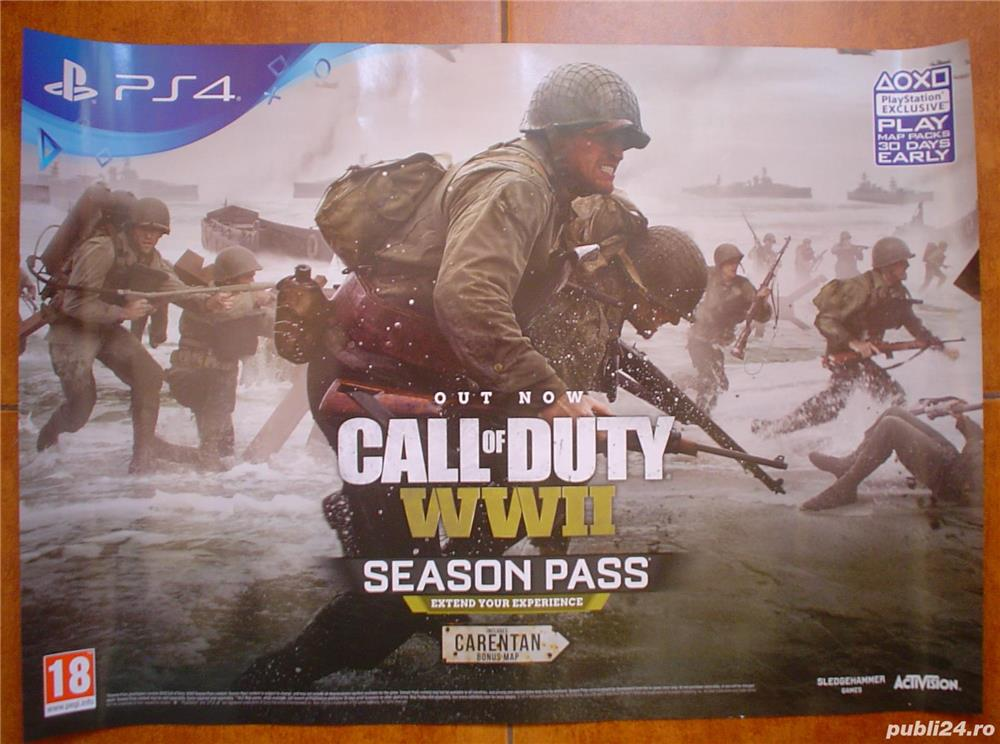 Poster/afis joc  Call of Duty WWII    PS4