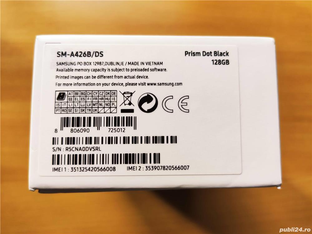 Vand Samsung A42 5G,nou,sigilat,garantie 2 ani cu factura de la Orange