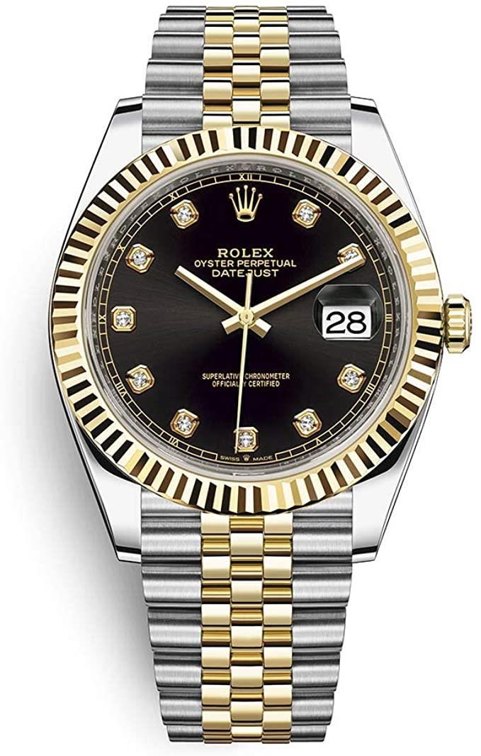 Rolex DateJust Bi-Metal Black Diamond Dial! Calitate Premium !