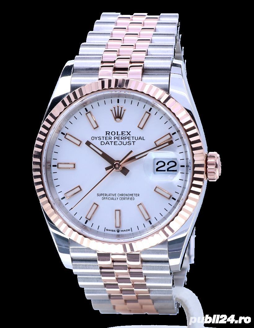 Rolex Datejust 36 Rose Gold/Steel White Index Dial! Calitate Premium !