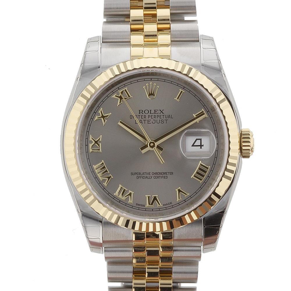 Rolex Datejust Grey Dial Gold/Steel! Calitate Premium !