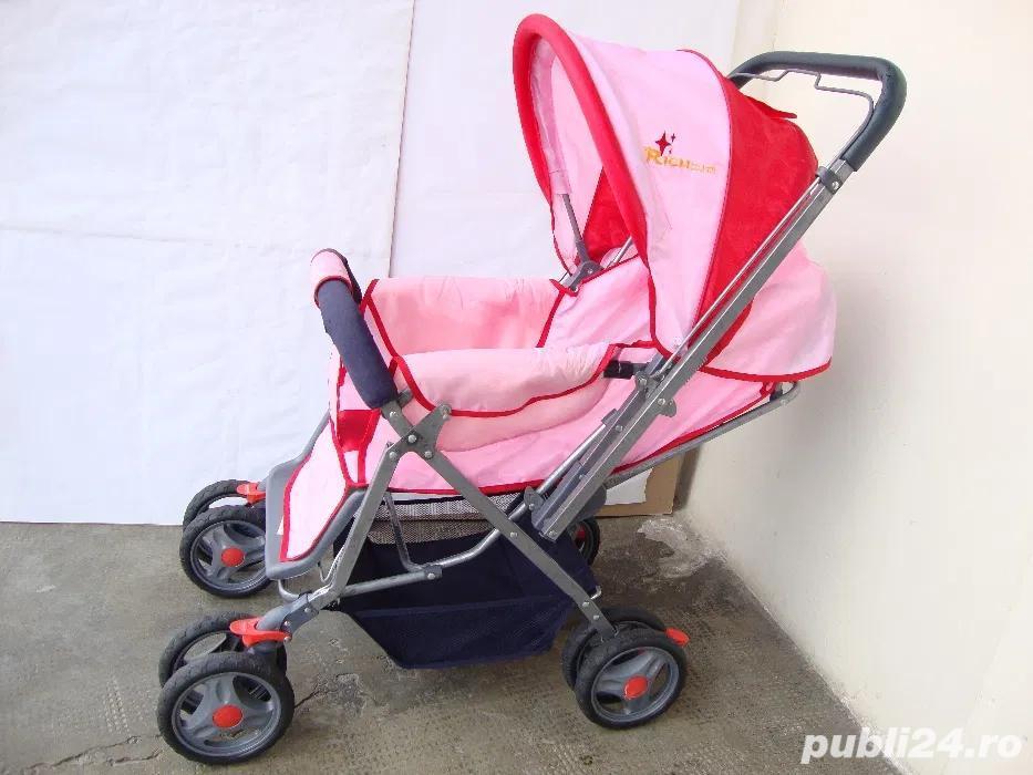 Carucior pliabil pentru fetita / Carut pentru fetita