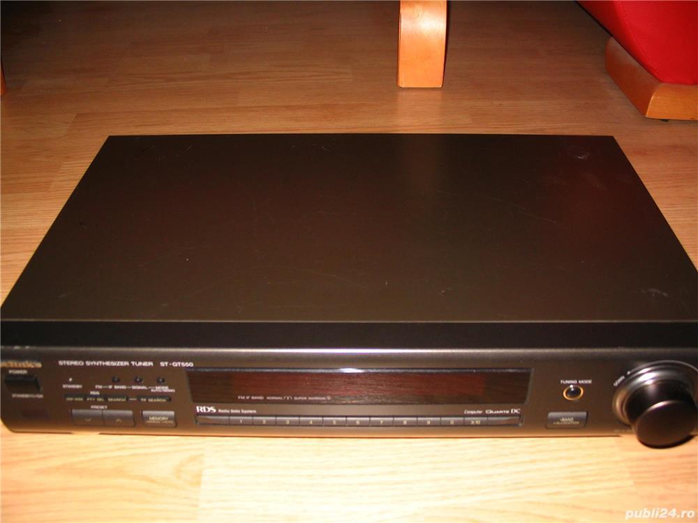 Tuner Technics ST-GT550 cu RDS si antena AM FM manual
