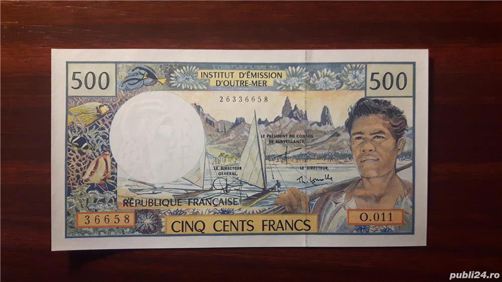 Colectionar, vand bancnote din Teritoriile Franceze din Pacific (Tahiti)
