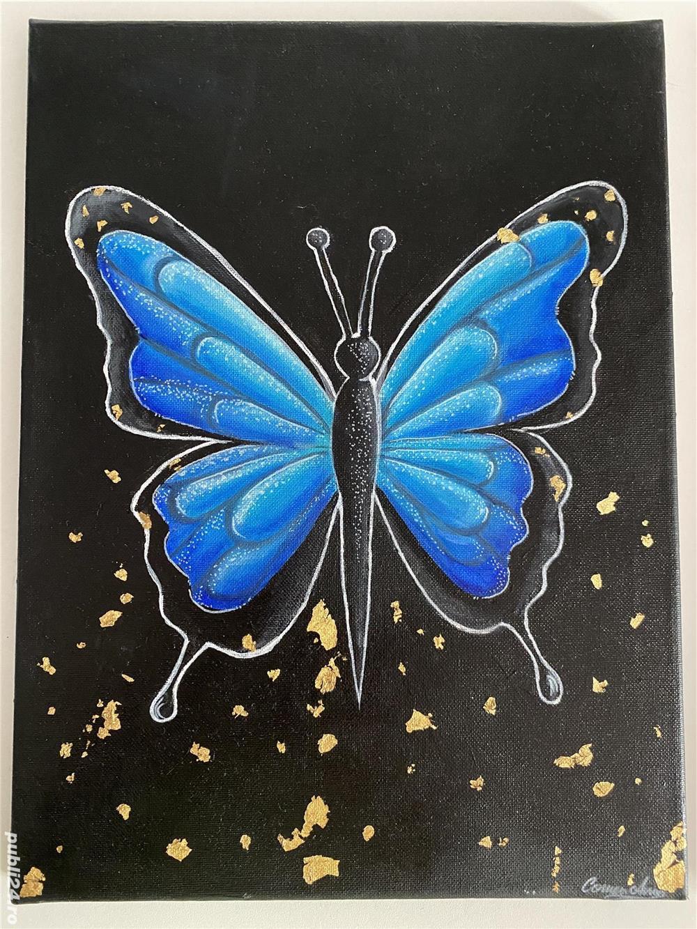 Tablou fluture albastru