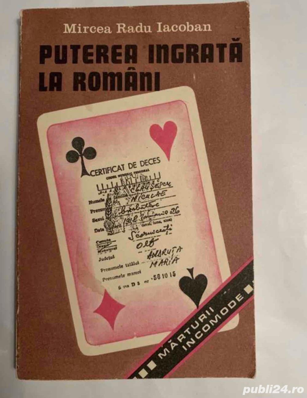 Puterea ingrata la romani, Mircea Radu Iacoban