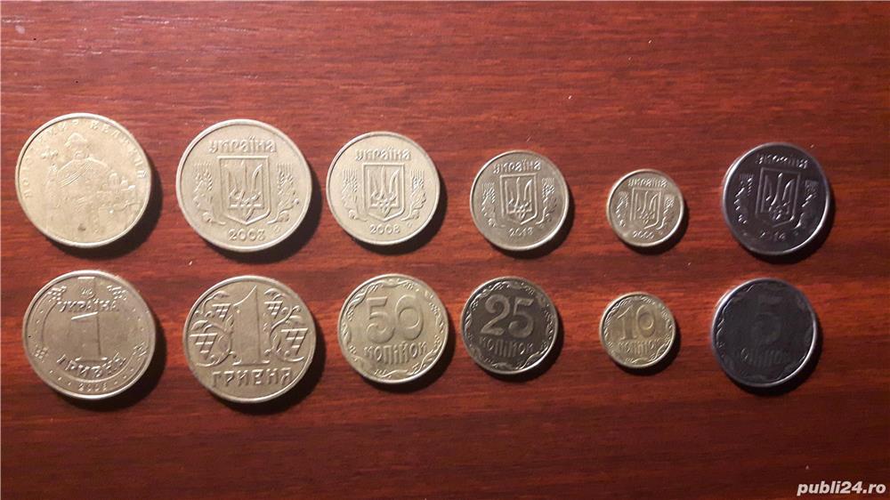 Colectionar, vand monede din Ucraina