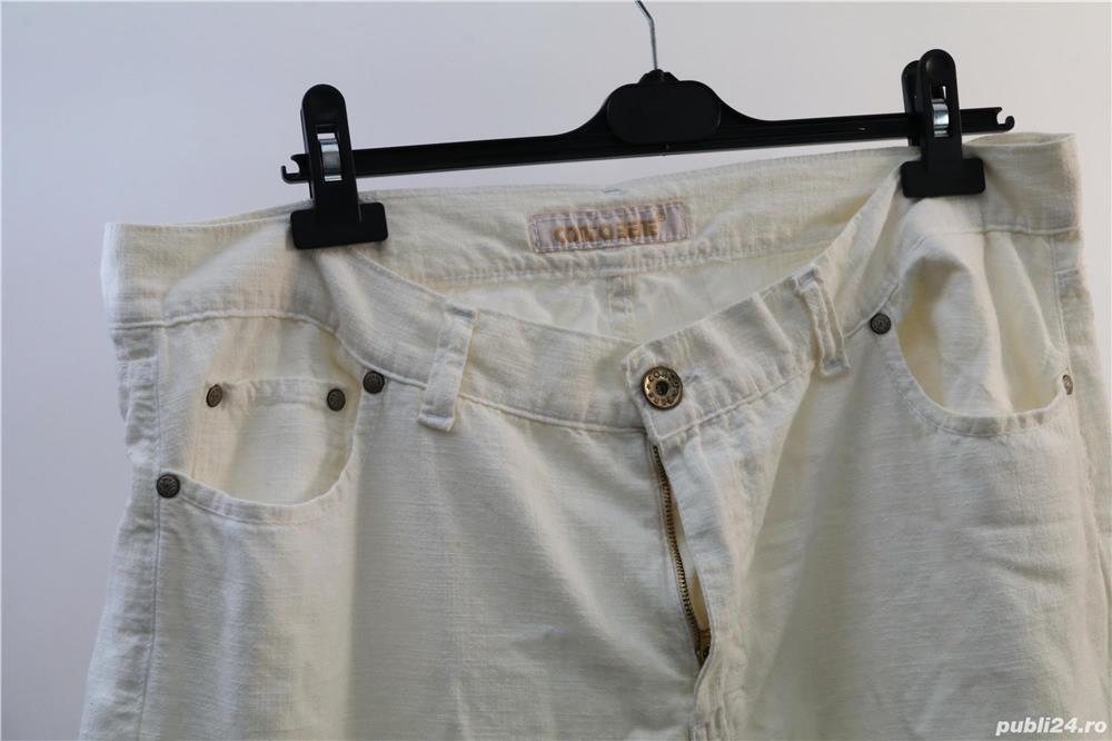 pantalon alb jeans de vara marca contobene ca nou