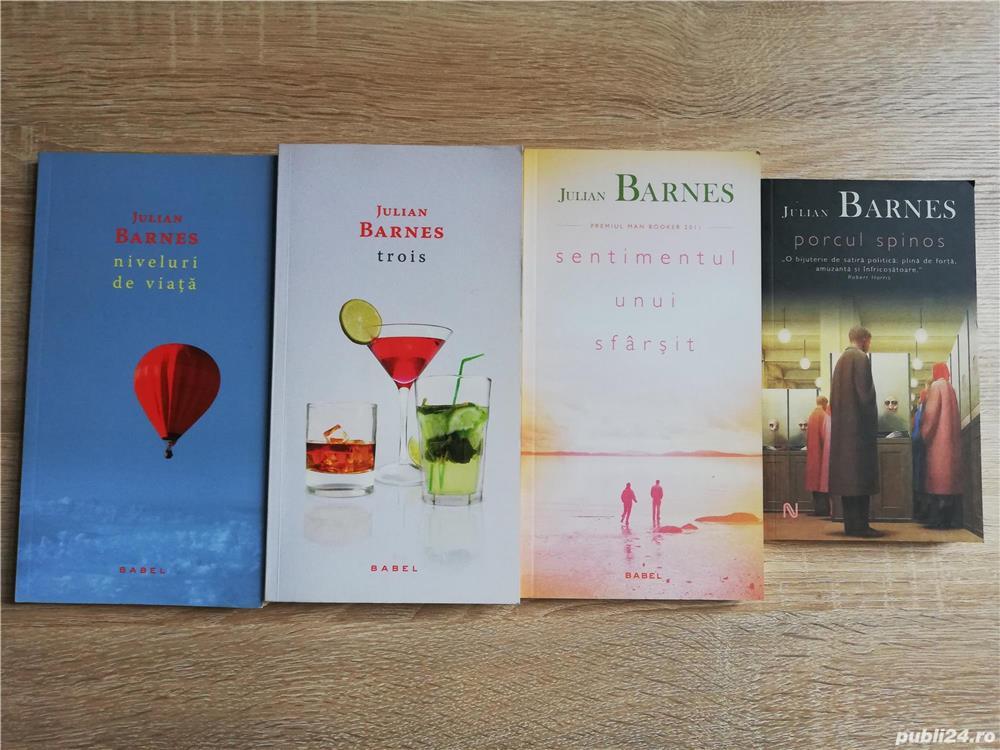 Cărți Julian Barnes (Niveluri de viață, Trois, Sentimentul unui sfârșit, Porcul Spinos) de la 10 lei