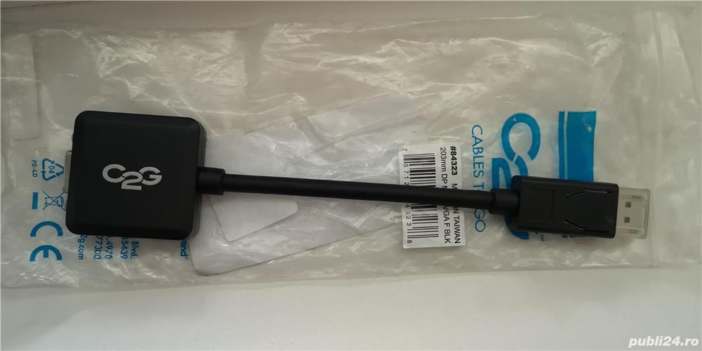 Cablu adaptor display port - vga, nou