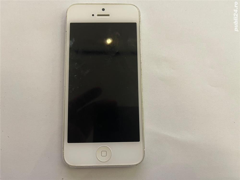 PENTRU PIESE !! PRET FIX: Iphone 5 white 16 GB, optic 10/10, pentru piese de schimb
