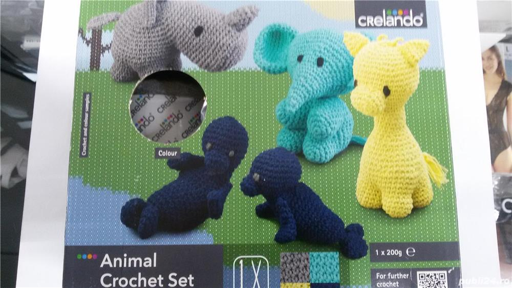 Set de crosetat animal decorativ