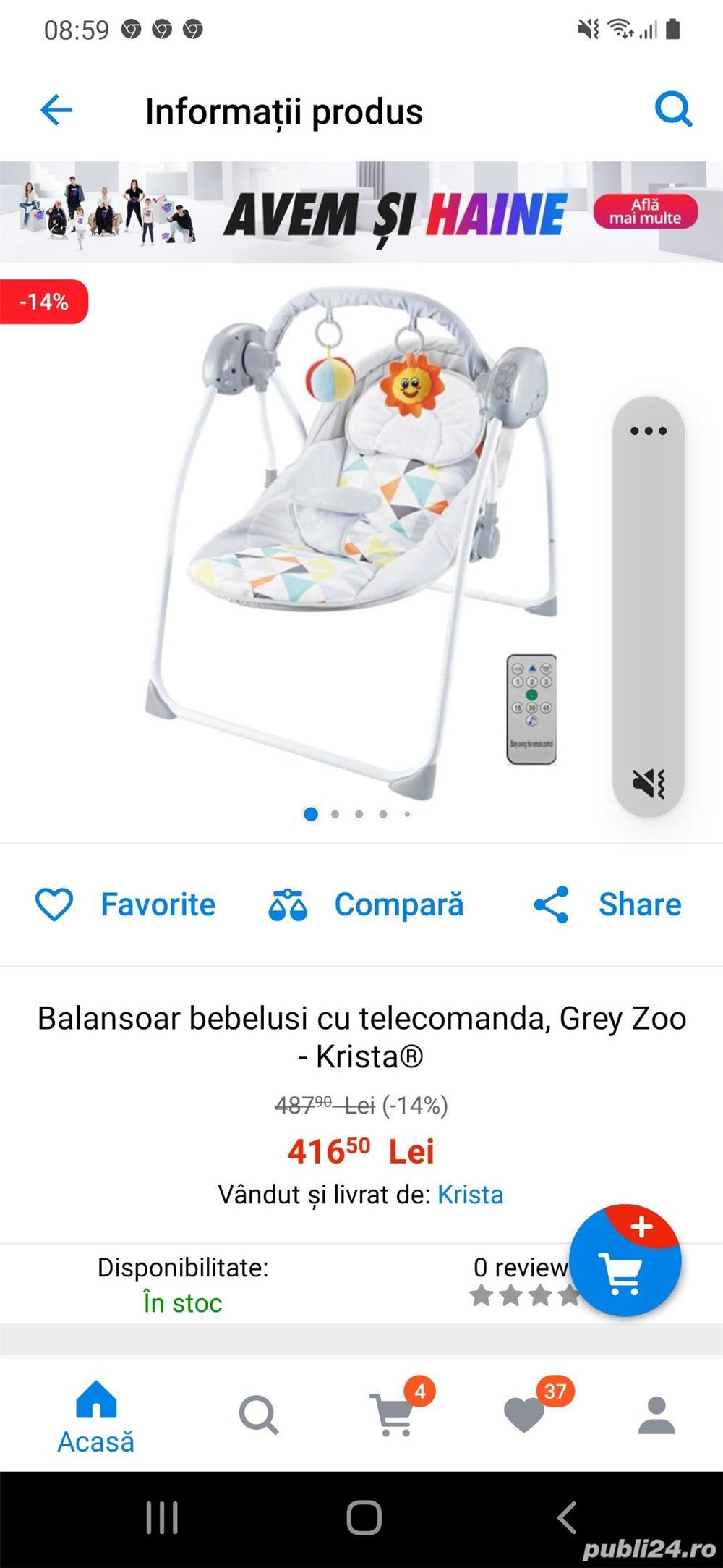 Vând balansoar bebelus + pompa de san electica