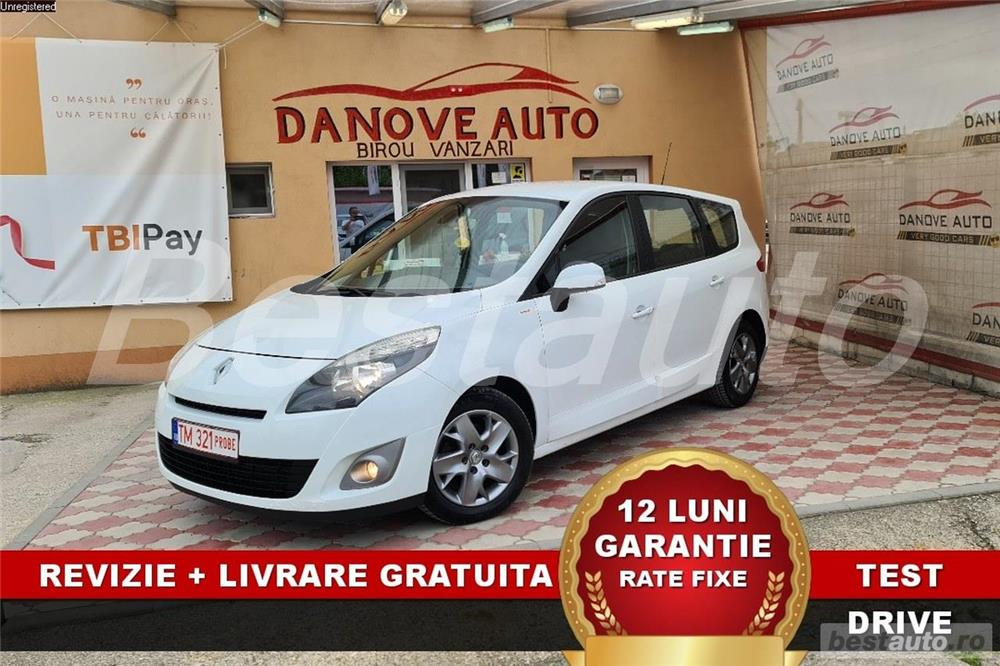 Renault Scenic Revizie + Livrare GRATUITE, Garantie 12 Luni, RATE FIXE, 1.6Dci, Euro 5, An 2011