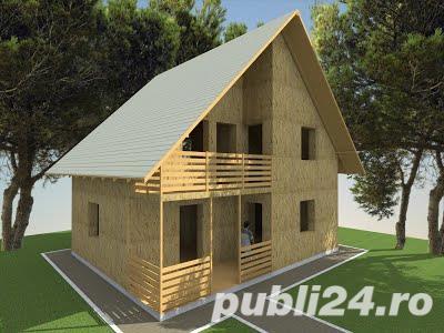 Kit casa 120mp structura lemn