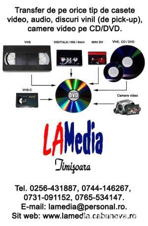 Transfer de pe casete video, miniDVD, carduri, camere video, etc. pe CD\DVD - imagine 1
