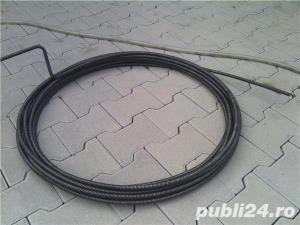 Cablu otel carbon industrial desfundat tevi/canal - imagine 2