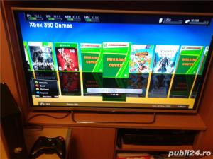 xbox 360 ,slim,1 maneta , 49 jocuri, gta 5 , fifa 19 ,watch dogs - imagine 1