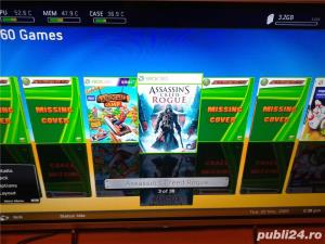 xbox 360 ,slim,1 maneta , 49 jocuri, gta 5 , fifa 19 ,watch dogs - imagine 5