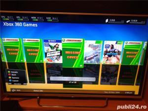 xbox 360 ,slim,1 maneta , 49 jocuri, gta 5 , fifa 19 ,watch dogs - imagine 7