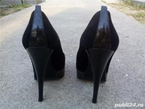 Pantofi Marcello Giovannetti piele întoarsă negri - imagine 2