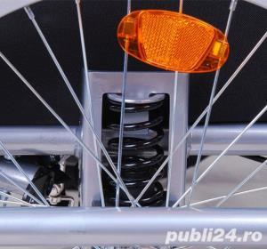 Remorca de bicicleta Qaba - auriu-alb-negru - imagine 4