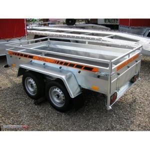 Remorca auto 750 kg punte tandem, dim 245x125cm, RAR Efectuat -  7525T - imagine 1