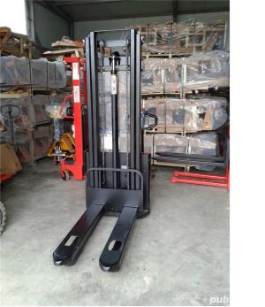 transpalet deplasare si ridicare electrica 1200 kg la 3 metri - imagine 1