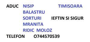 O744570539 Aduc Nisip , Balast , Sort , Mranita ,ridic moloz IEFTIN ! - imagine 5