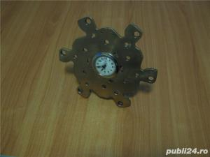 Ceas mecanic vechi functional Aradora 1970 hand made alama - imagine 5