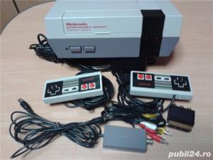 vand consola joc vintage, NES,PAL,nintendo entertainment system,cu 6 jocuri de top,4 manete - imagine 3